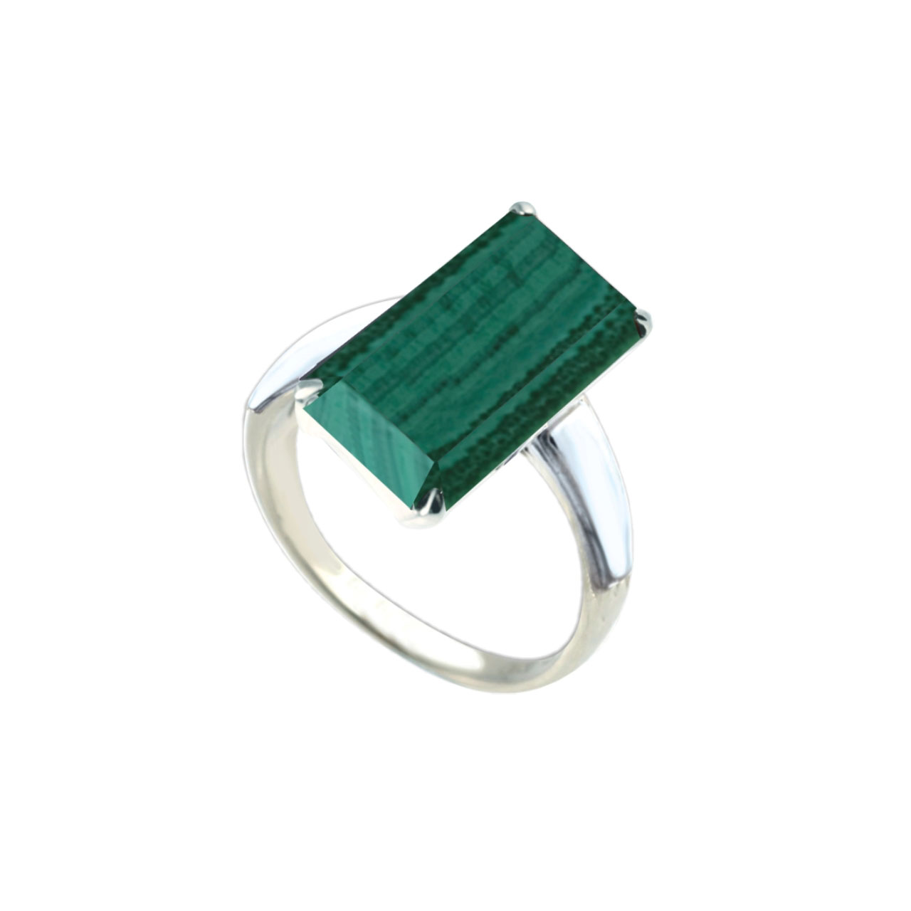 Malachite silver ring 2