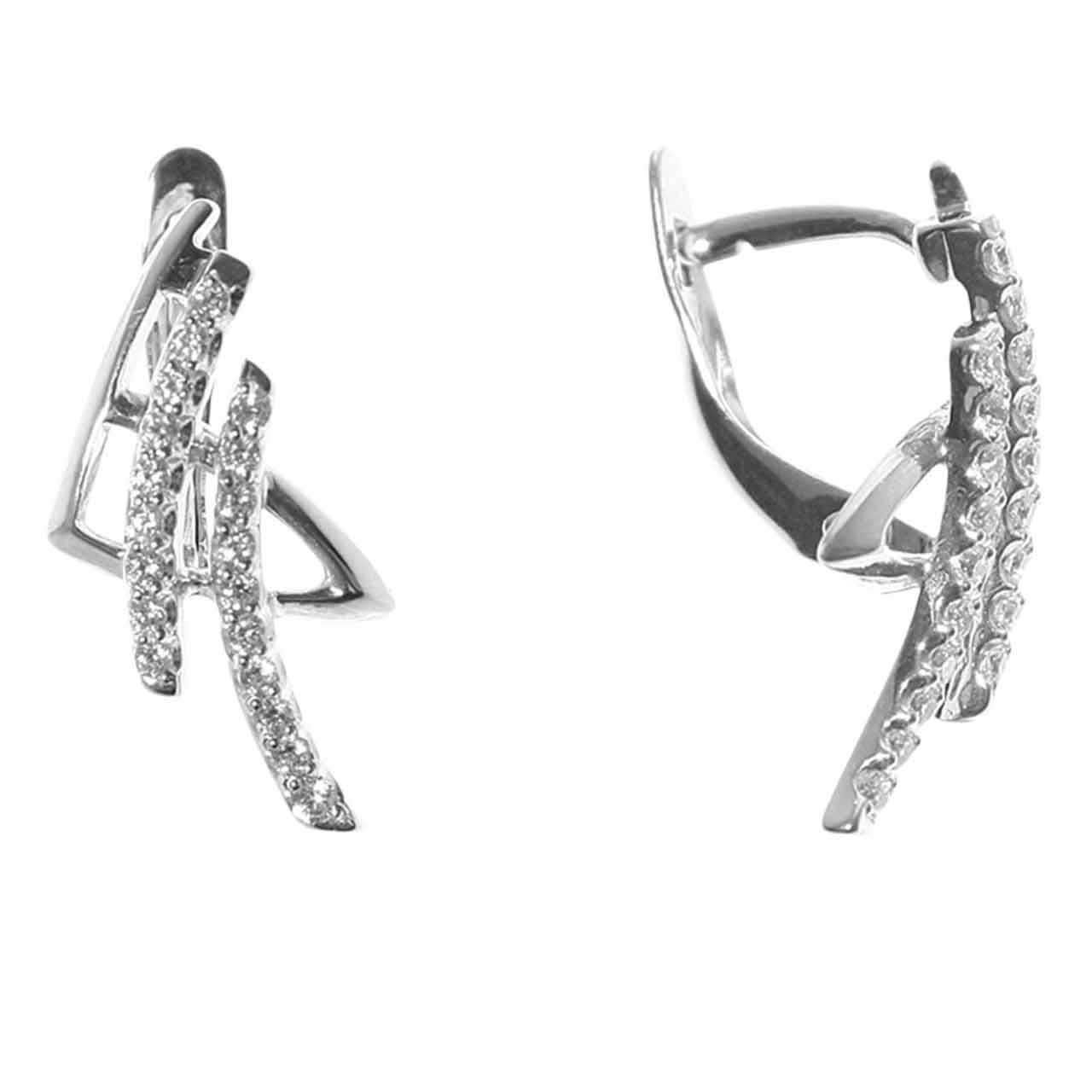 Oriental white gold earrings 1