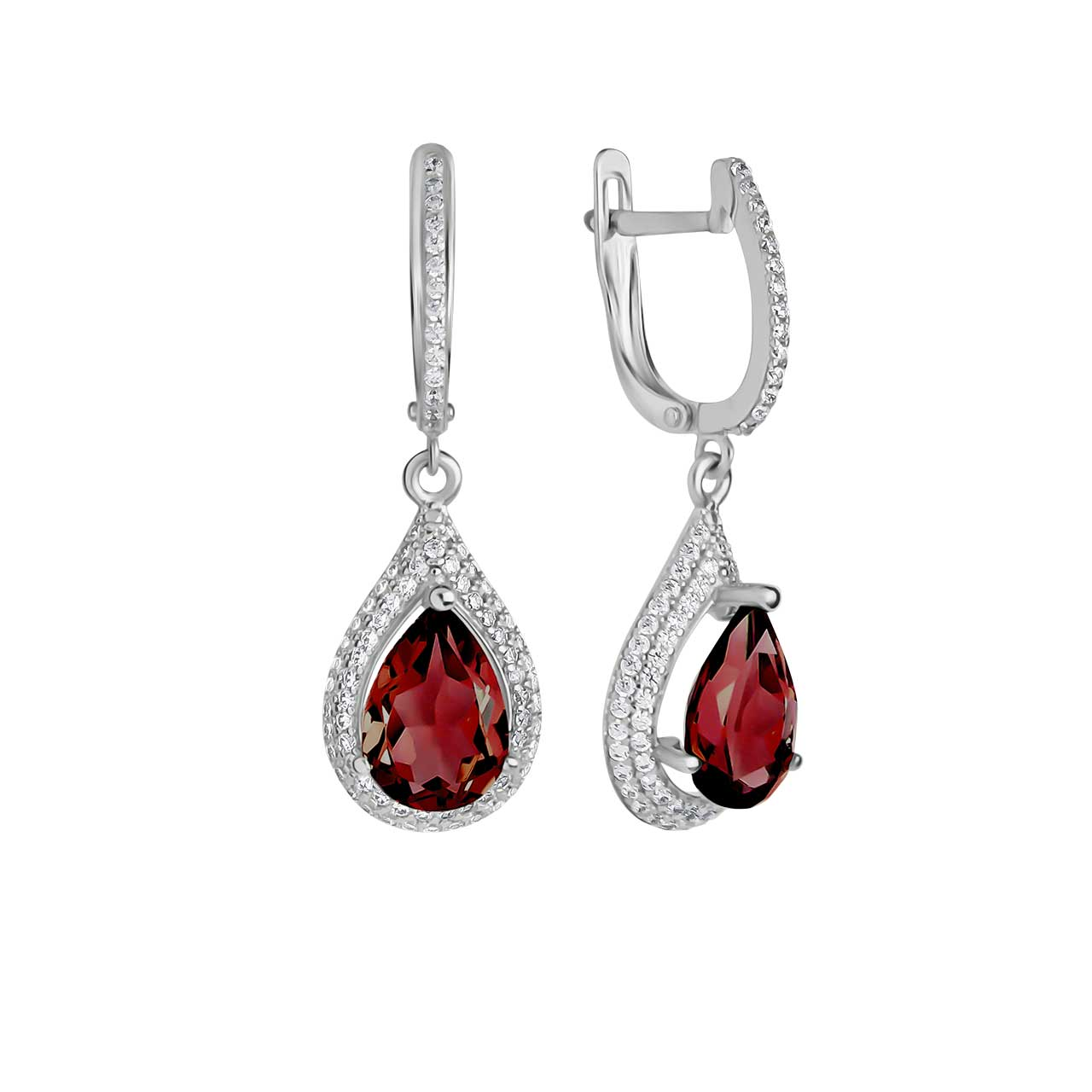 Garnet drop earrings 1