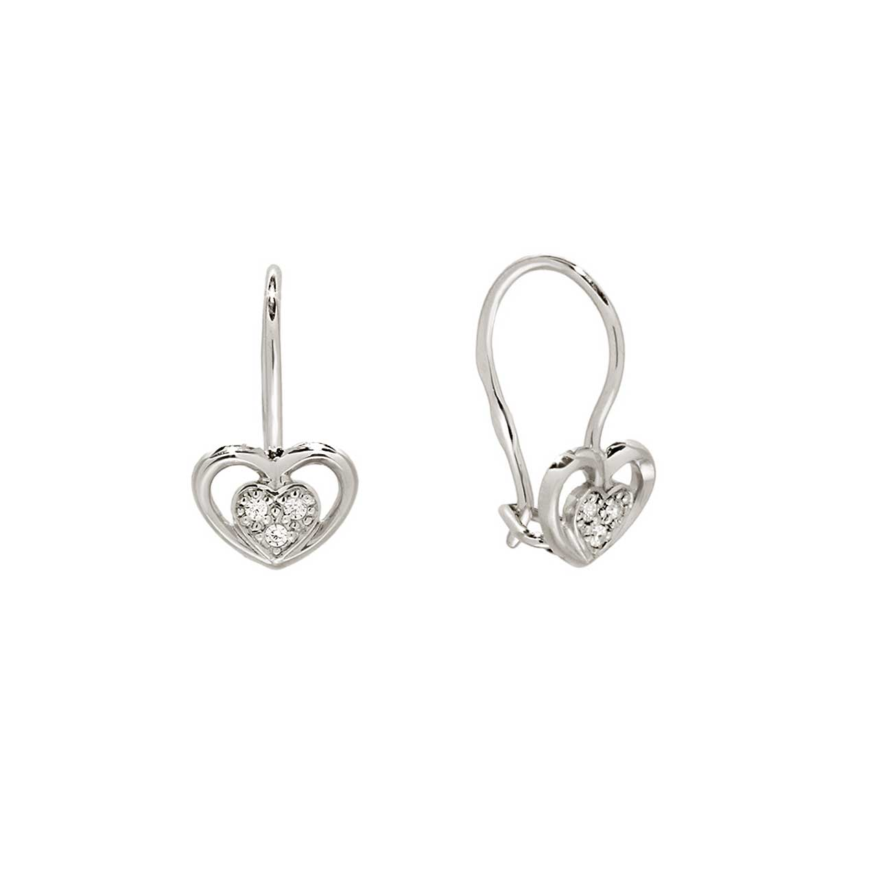 Heart-in-Heart Children Earrings