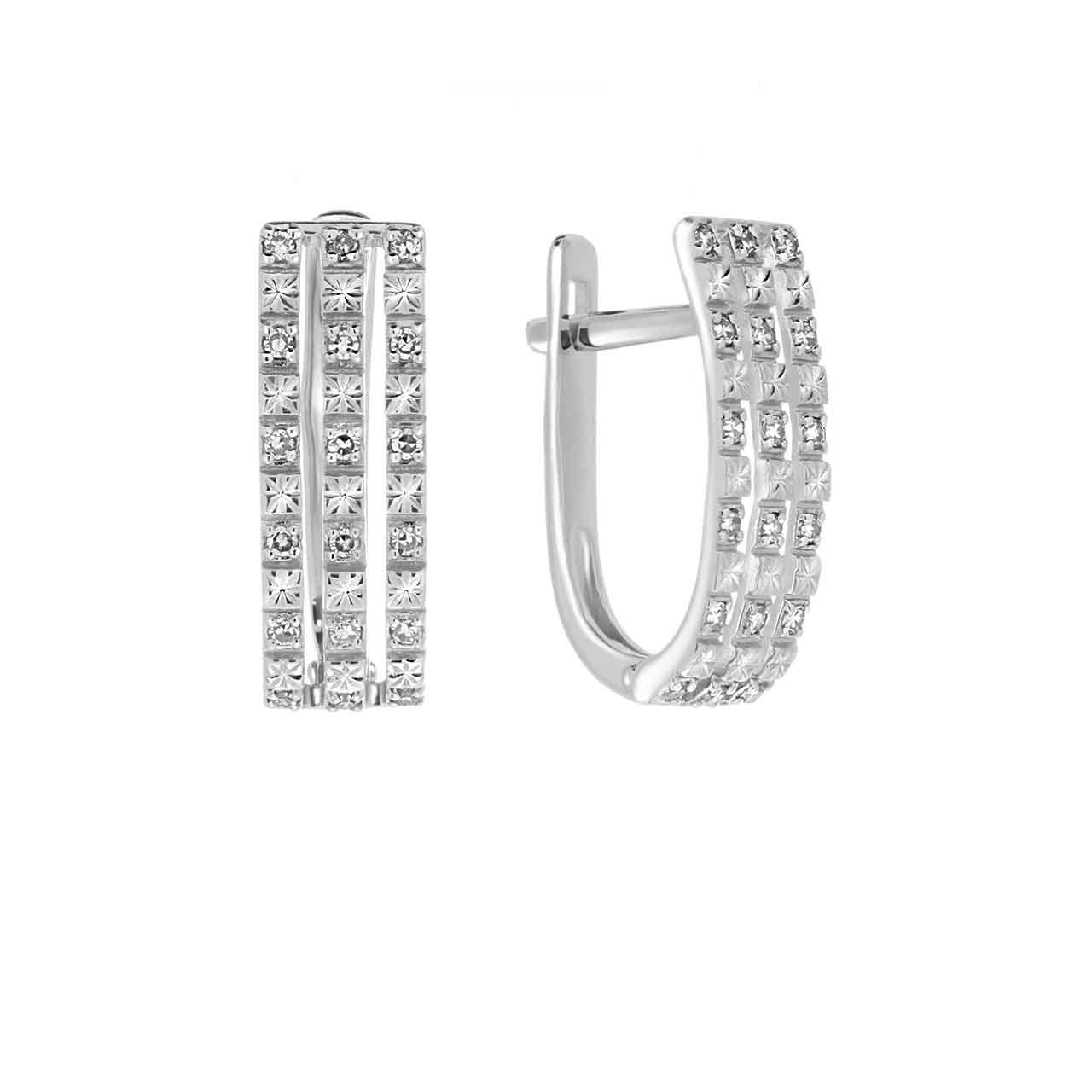 White gold leverback earrings 1