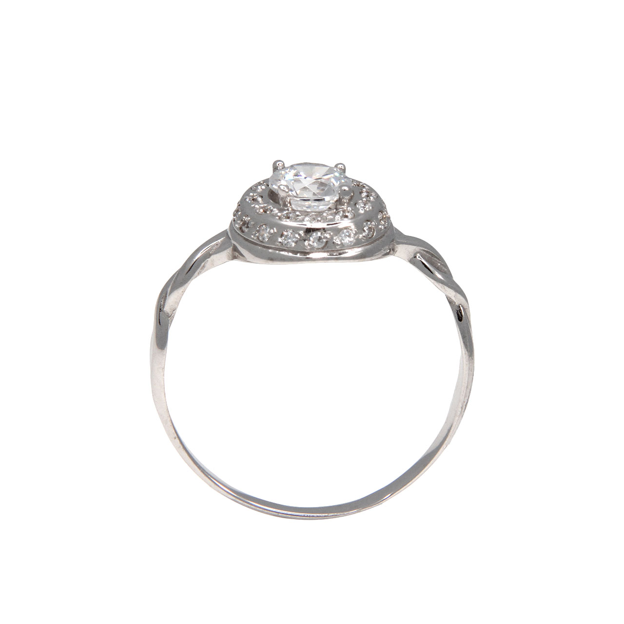 CZ twisted shank ring 3