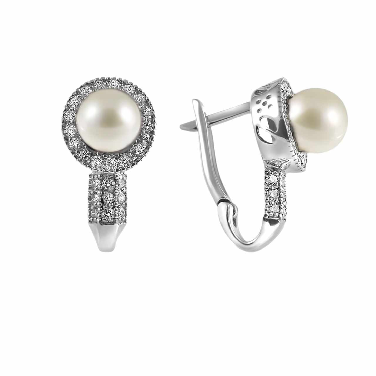 8mm white pearl earrings on sale 1