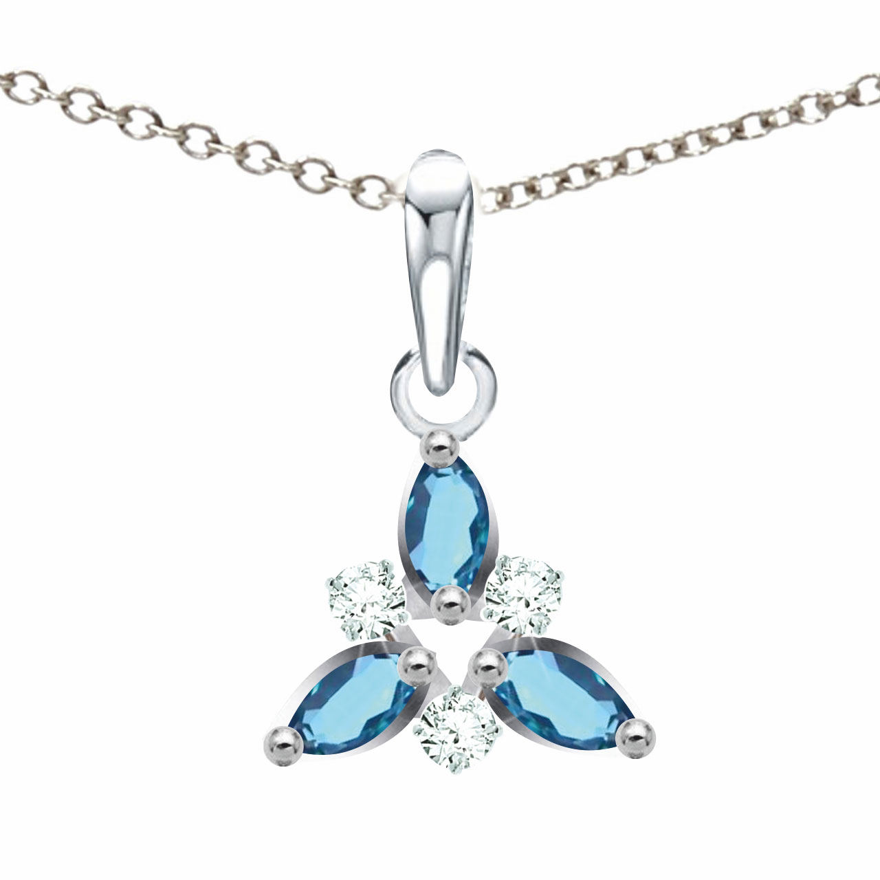 Aquamarine Pendant With Diamonds