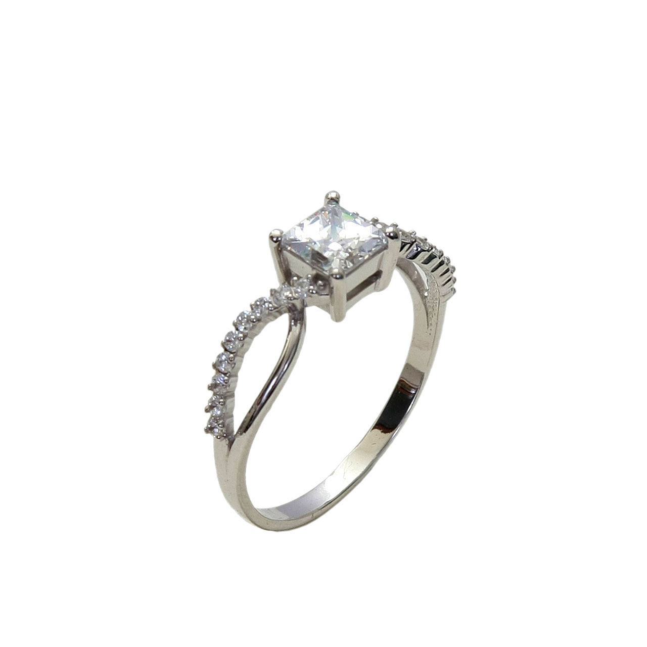 Princess Cut CZ Ring